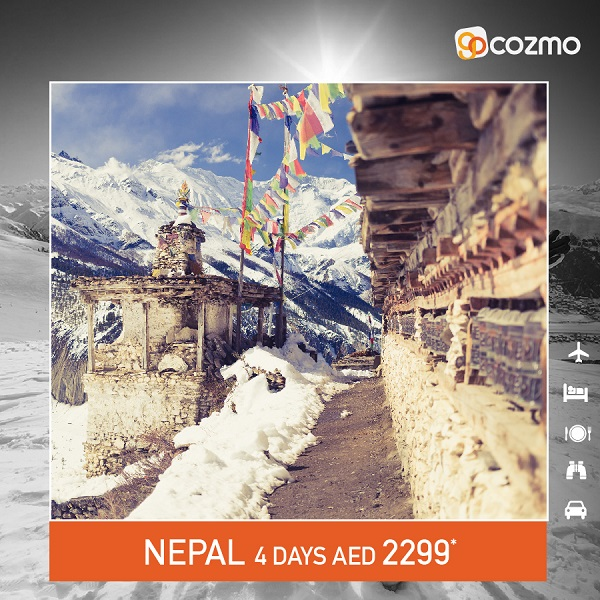 Cozmo Travel - Planning for a Vacation this Winter? Explore Nepal with All-inclusive Package from AED 2299*.