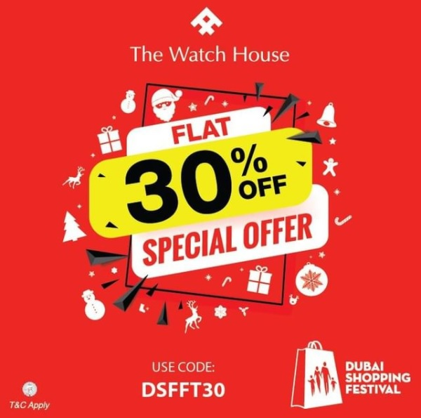 It's Shop'o'Clock in Dubai! Shop till you drop this DSF, get Flat 30% off upon checkout @ The Watch House