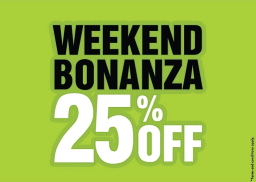 Shoe Mart - Weekend Bonanza. 25% Off. T&C apply