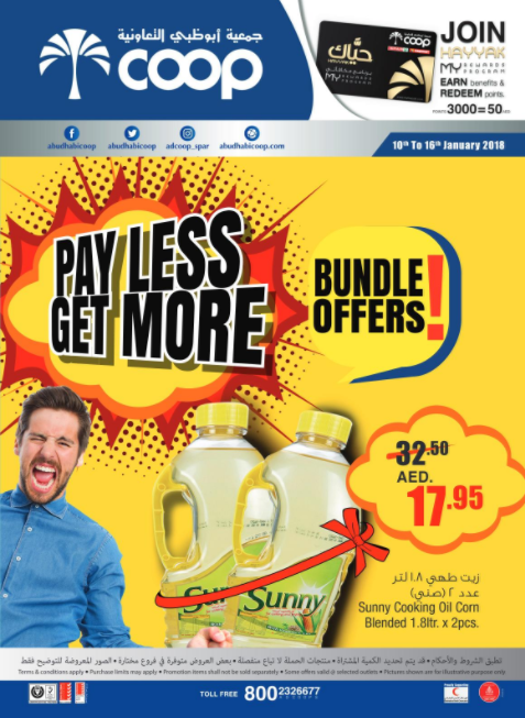 Abu Dhabi Coop - Bundle Offers. Valid from 10th to 16th January 2018.