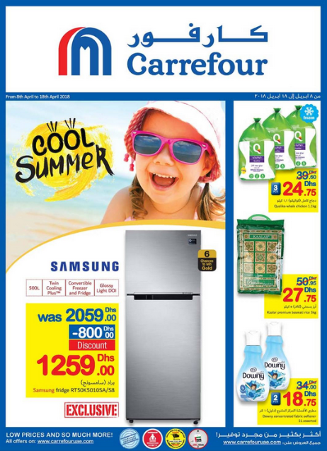 Enjoy a Cool Summer with Carrefour. Offer valid from 8th April to 18th April 2018.