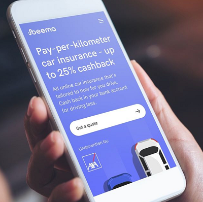 Pay-per-kilometer car insurance - up to 25% cashback. All online car insurance that's tailored to how far you drive. Cashback in your bank account for driving less.