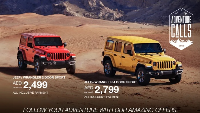 FOLLOW YOUR ADVENTURE WITH JEEP AMAZING OFFERS.