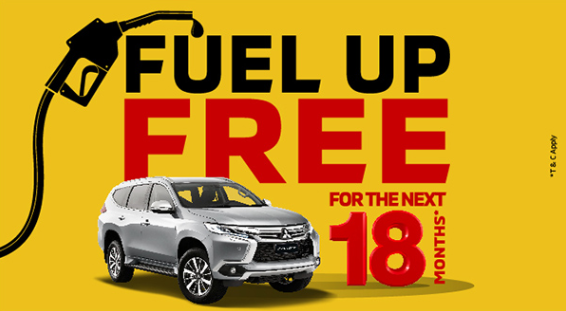 Mitsubishi - Fuel up free for the next 18 months*!