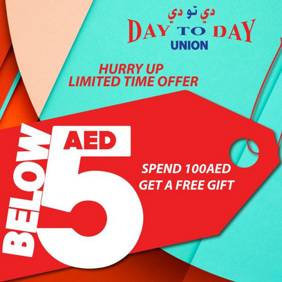 Day To Day, Union - Below 5 Dirham Sale. Offer valid from now until 15 January, 2018 only.