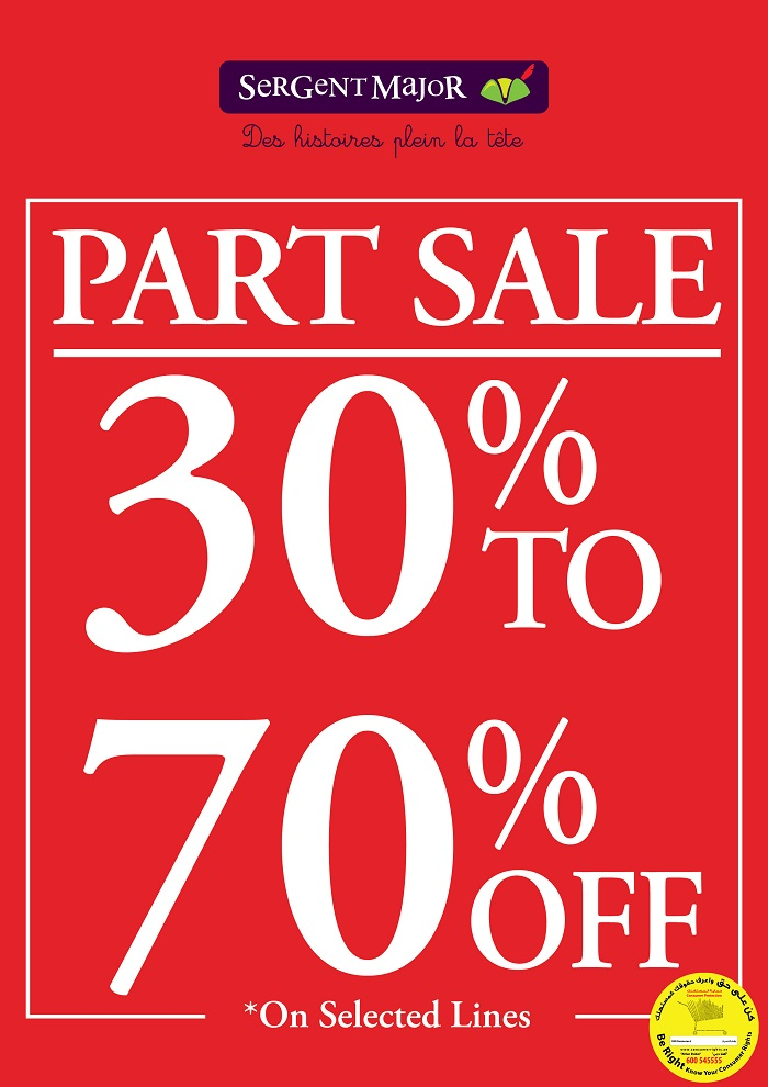 Sergent Major - Part Sale 30% to 70% Off on selected lines