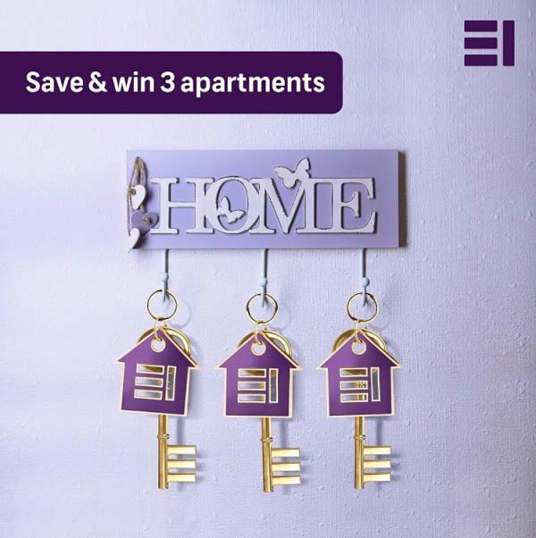 Get a chance to win mega prizes of 3 apartments and AED 1 million with our award- winning Kunooz Savings Account @ Emirates Islamic. Offer valid till 30th April 2021.
