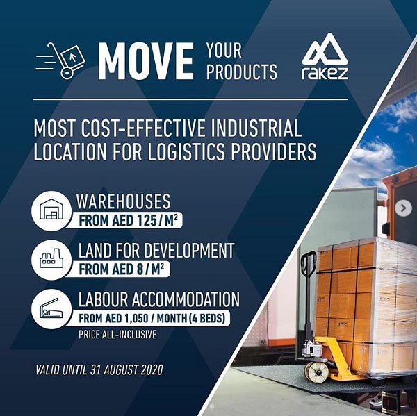 RAKEZ - MOVE YOUR PRODUCTS FROM UAE. Most Cost-Effective industrial location for logistics Providers.
