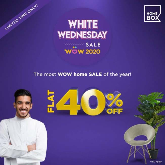 Flat 40% off! The biggest home sale of the year - White Wednesday Sale @ Home Box