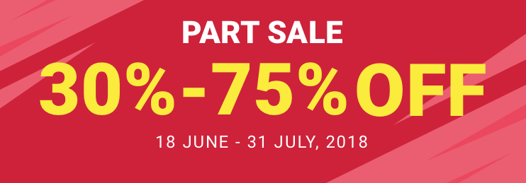 ACE - Part Sale. 30% to 75% Off. Across all categories. Across all stores. T&C apply