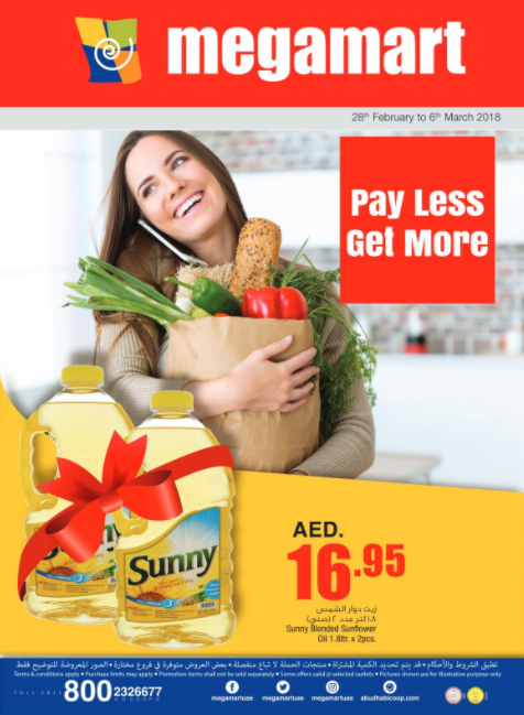 Megamart - Pay Less Get More. Valid from 28th February to 6th March 2018.
