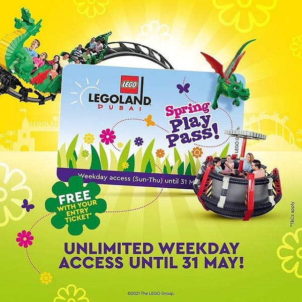 Get your Free Seasonal Spring Pass for unlimited weekday access until 31 May with your entrance ticket @ LEGOLAND