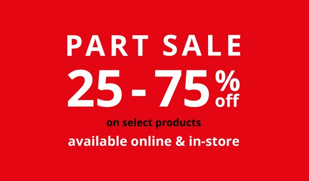 IKEA Part Sale. 25 - 75% Off on select products. Available online & in-store.