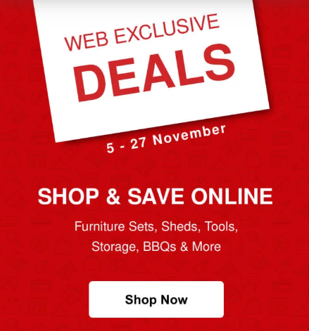 ACE Web Exclusive Deals.   From 5th - 27th November, 2019.