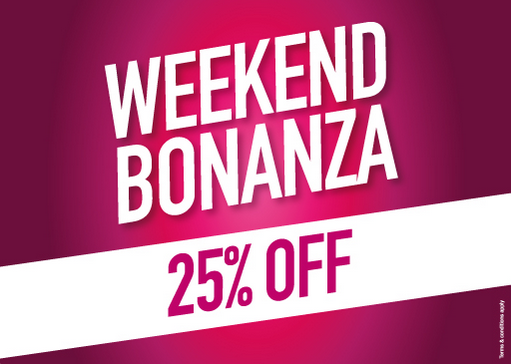 Babyshop Weekend Bonanza. Enjoy 25% OFF. T&C apply.