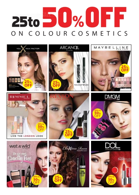25% to 50% Off on top brand cosmetics at Xpressions Style. Offer valid in selected outlets of Xpressions Style and online. Offer is valid till 24th of November, 2018.