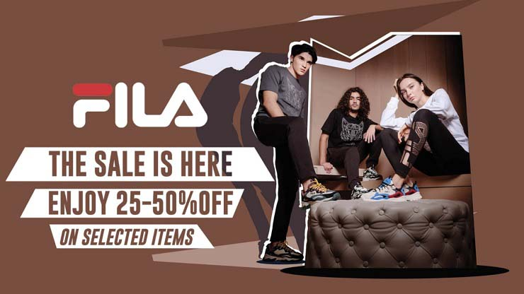 The Sale is here. Enjoy 25 - 50% OFF on selected items @ FILA