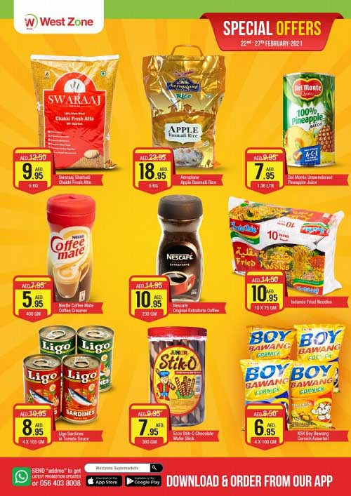 Special Offers @ West Zone - Burjuman. Offer valid from 22nd February until 27th February 2021 or while stock lasts