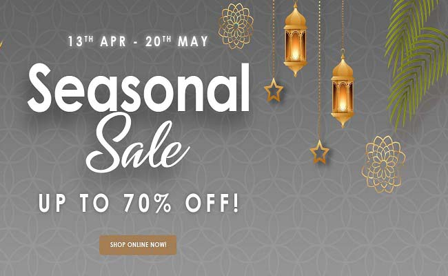 Seasonal Sale, Up to 70% Off @ Casa Lusso Furniture. Offer valid from 13th April to 20th May 2021