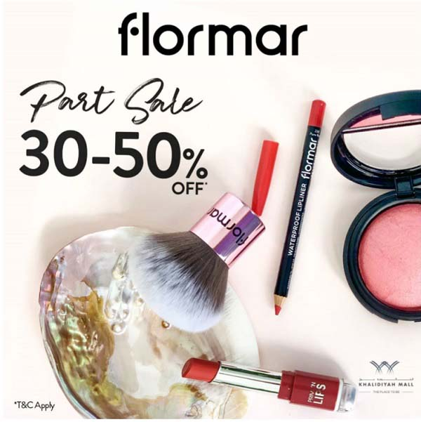 Shop at Flormar Stores and get upto 50% Off. Offer valid until 24th October 2020. T&C Apply