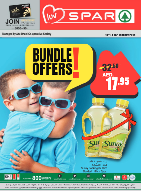 SPAR - Bundle Offers. Valid from 10th to 16th January 2018.