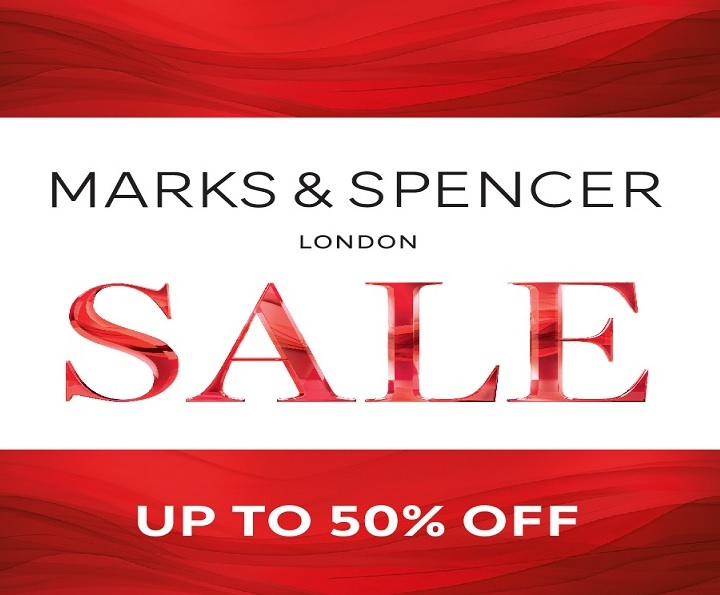 Enjoy up to 50% off at Marks and Spencer on fashion, beauty and home products