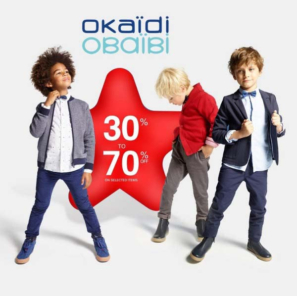 OKAIDI OBAIBI End of Season Sale is here! Get upto 70% off on the stylish kidswear collection! Offer valid on select items! T&C Apply.