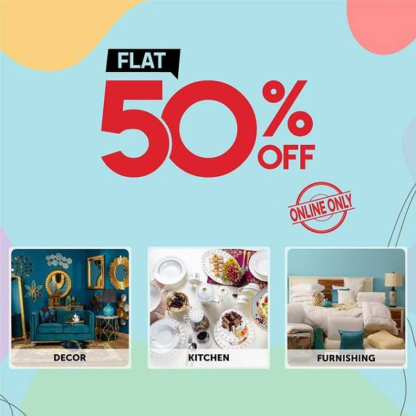 Ramadan Special Sale Danube Home offering FLAT 50% on all luxurious decor, soft furnishings & homeware. Shop online at: uae.danubehome.com