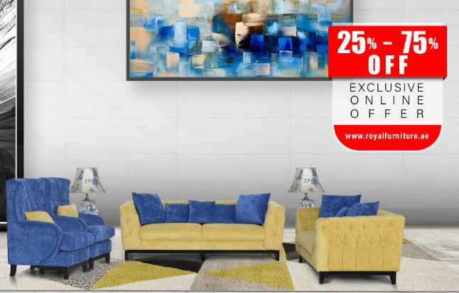 25% - 75% Off. Exclusive Online Offer. Visit www.royalfurniture.ae