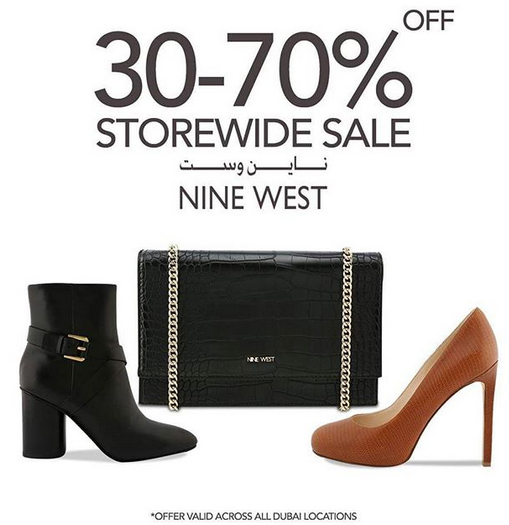 This DSF, enjoy 30-70% off storewide at any NINE WEST shop across Dubai.