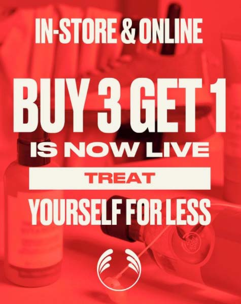 Great Deals Now Live. Buy 3 Get 1 on all products @ The Body Shop. T&Cs apply.