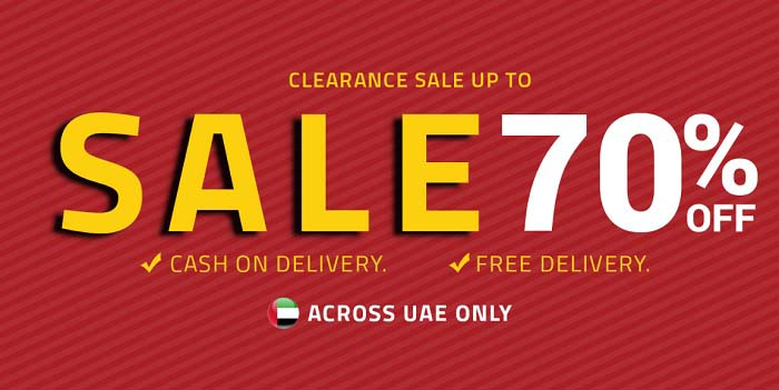 CLEARANCE SALE UP TO SALE 70%. FREE CASH ON DELIVERY @ Al Mandoos