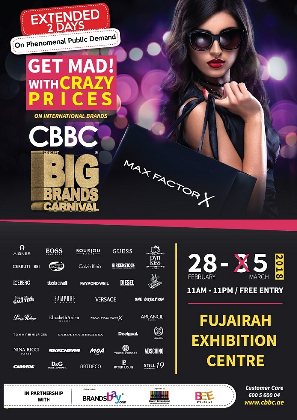 Extended for 2 more days!!! on phenomenal public demand, CBBC @ Fujairah Exhibition Centre till 5th March 11am-11pm