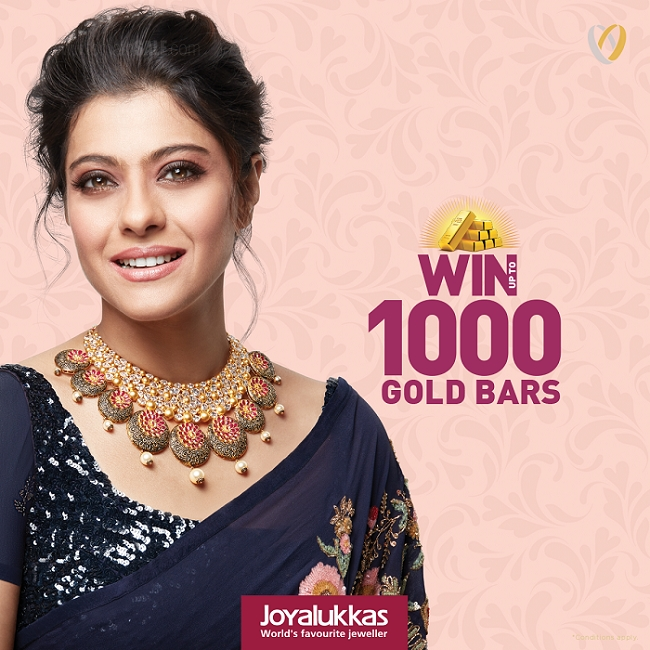 Joyalukkas - WIN up to 1000 Gold Bars. Spend AED 500 and get 1 raffle coupon for gold jewellery purchase and 2 coupons for diamond jewellery purchase. 10% Cash back voucher* on purchase of diamond & polki jewellery worth AED 2,000. Pay 10% advance and get guaranteed gold rate protection till 05th November 2018. Offer valid till 10th November 2018. *Conditions apply.