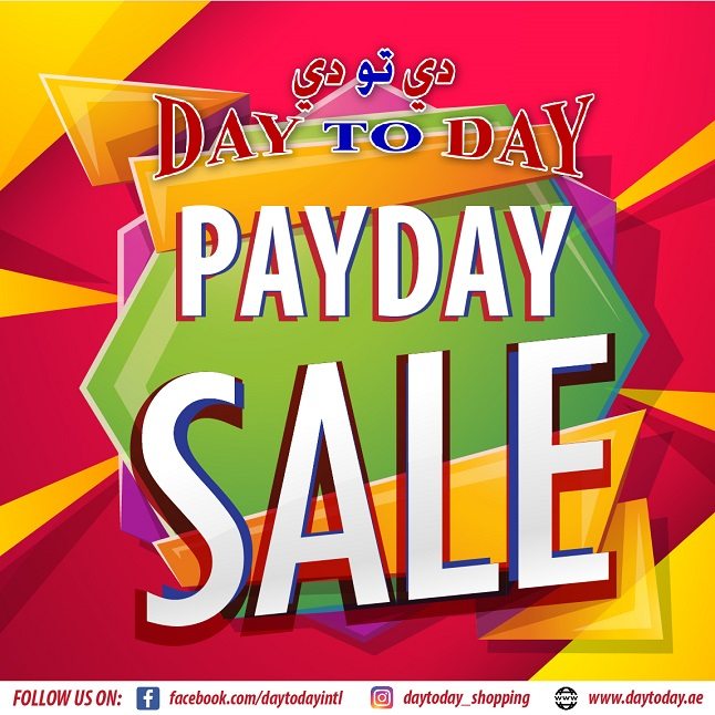 Day To Day - Payday Madness Sale. Day To Day Al Fahidi offer starts 29 June till 7 July, 2018. Day To Day Al Safa promotion starts 28 June till 7 July, 2018. Day To Day Abu Shagara offer starts 28 June until 7 July, 2018.
