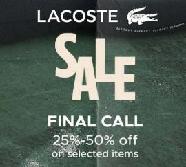 Lacoste offer