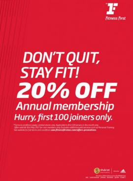Fitness First offer