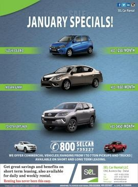 SEL Car Rental offer