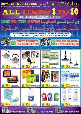 One to Ten Gift offer